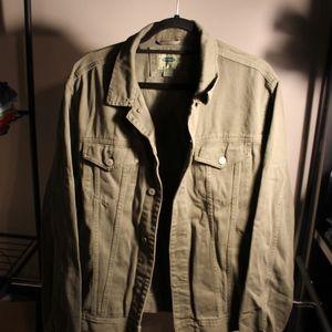 Men's Old Navy Green Denim Jacket
